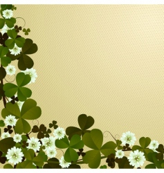 Clover leaf border vector