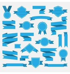 Blue ribbonsmedalawardset vector