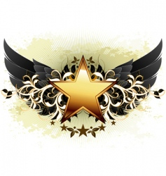 Star with ornate elements vector