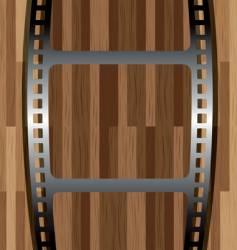 film wood vector image