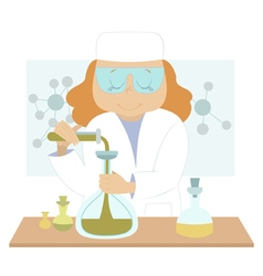 Young scientist vector