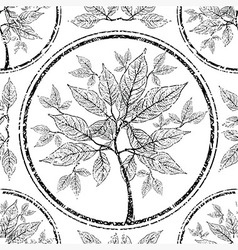 seamless tree pattern 010 grunge vector image