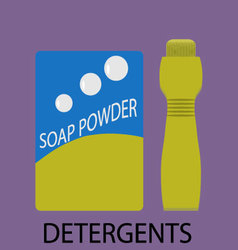 Detergents icon flat design vector