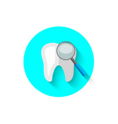 a review of the teeth in a flat style vector image vector image