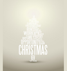 abstract christmas card with season words vector image