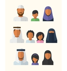 Arabic Families vector image vector image