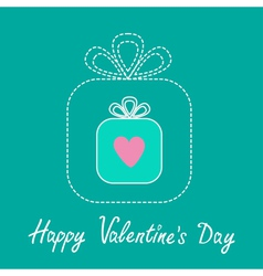 Big gift box and small gift box inside Valentines vector image vector image