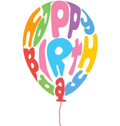 birthday balloon vector image