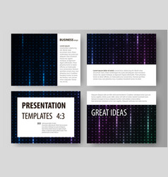 business templates for presentation slides vector image vector image