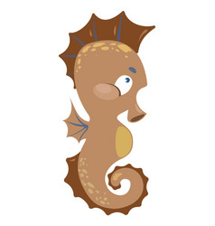 cartoon sea horse a small fish vector image