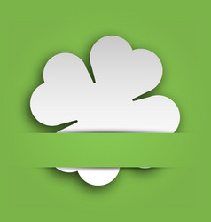 Cut out four leaf clover attached in the green vector