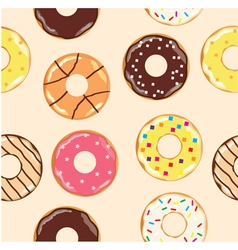 donuts baccground vector image