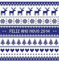 Feliz ano novo 2014 - protuguese happy new year pa vector