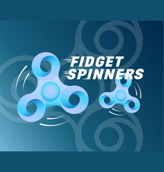 fidget spinners abstract card banner or vector image