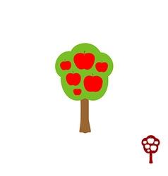 Fruit apple logo vector image