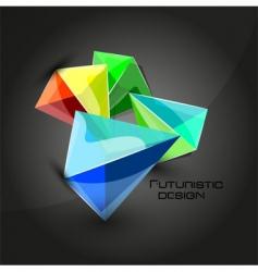 futuristic dimensional boxes vector image vector image