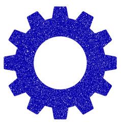 gear icon grunge watermark vector image