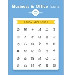 Line business and office tiny icon set vector