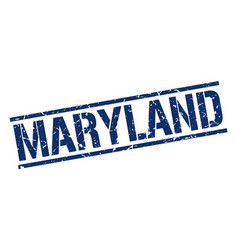 Maryland blue square stamp vector