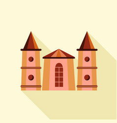 medieval towers icon flat style vector image vector image