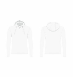 mens white hoodie vector image vector image