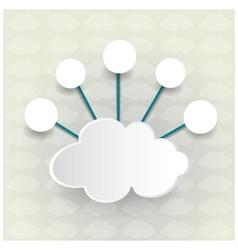 Paper Cloud computing vector image vector image