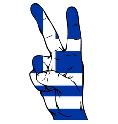Peace sign of the flag of the greece vector