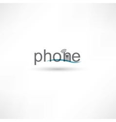 phone spelling letters vector image vector image