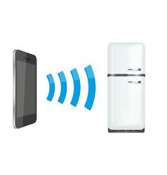 remote control fridge or home appliances via vector image