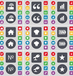 Router quotation mark diagram house cooking hat vector