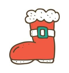 Santa boot vector