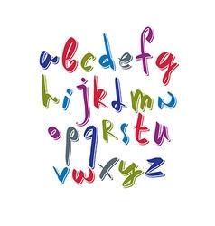 Script font alphabet letters vector image