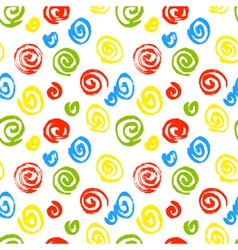 Spiral seamless pattern hand drawn artistic ink vector