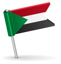 Sudan pin icon flag vector