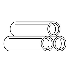 Tube icon outline style vector