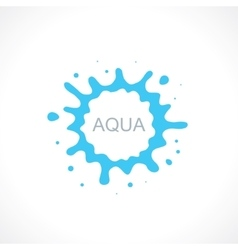 water splash abstract symbol vector image