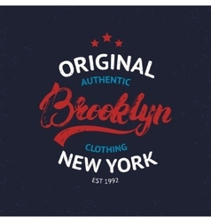 Vintage brooklyn label vector