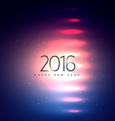 2016 happy new year lights vector