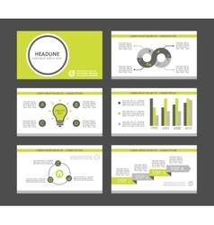 Infographic elements for presentation templates vector