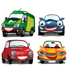 Smiling car vector