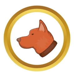 Head of dog icon vector