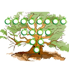 Tree diagram vector