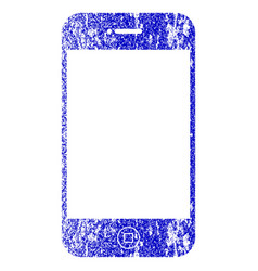 Smartphone textured icon vector