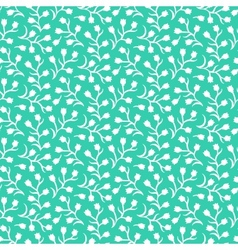 Ditsy floral pattern with small white flowers vector