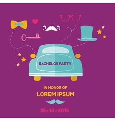 Bachelor party card - wedding invitation card vector
