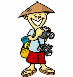 Asian tourist vector