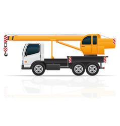 truck crane vector image