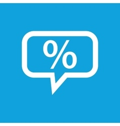 Percent message icon vector