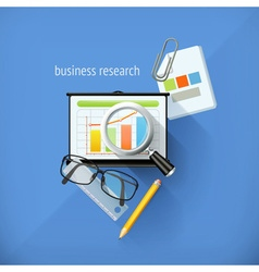 Start-up business research analysis and solution vector