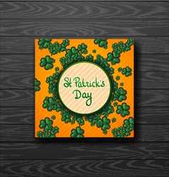 St patricks day green background trefoil vector